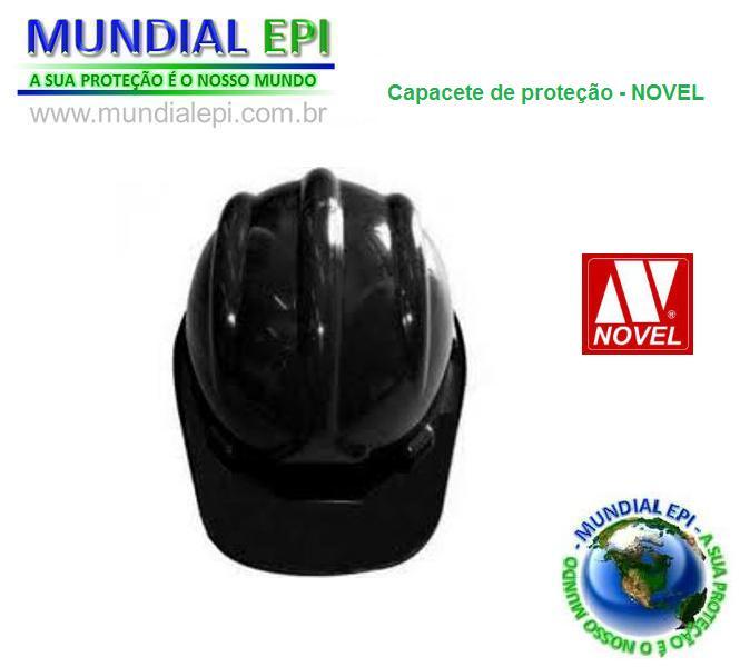 CAPACETE DE PROTEÇÃO - NOVEL PRETO - Mundial EPI 57d27126ea