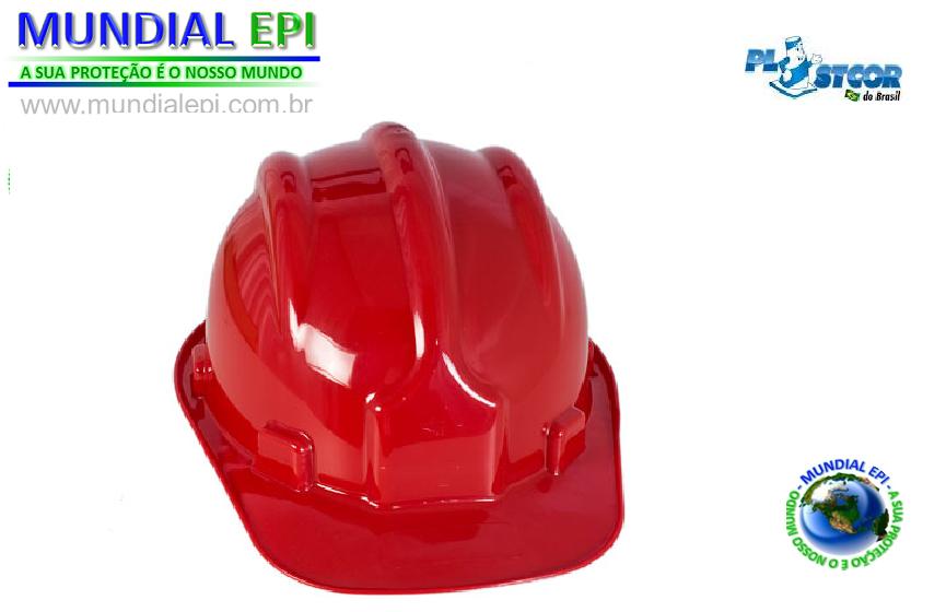 ... CAPACETE DE PROTEÇÃO PLASTCOR - VERMELHO bdc4be3655